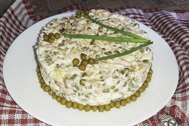 Картофельный салат с копченым лососем