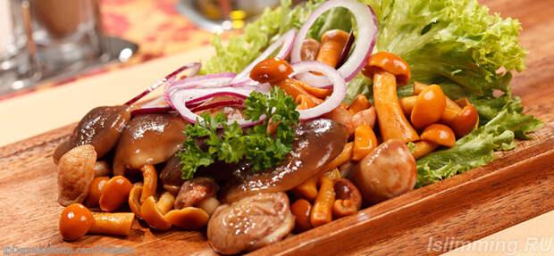 Грибная диета соленые в меню
