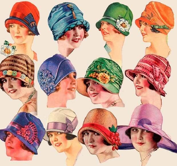 Шляпки, популярные в эпоху 1920-х годов.| Фото: izuminki.com.