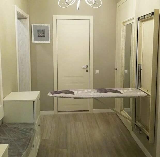 Идеи для хранения гладильной доски. Или 10 мест, где можно спрятать гладильную доску, фото № 18