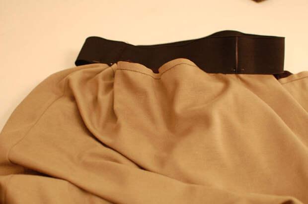 coser cintura con goma