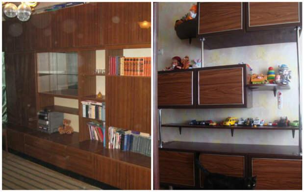 Немного фантазии и стенка трансформируется в современный стеллаж для детской комнаты мебель, новая жизнь, переделка, старье