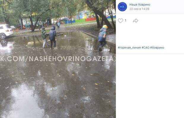Импровизированное море на Петрозаводской осушили коммунальщики