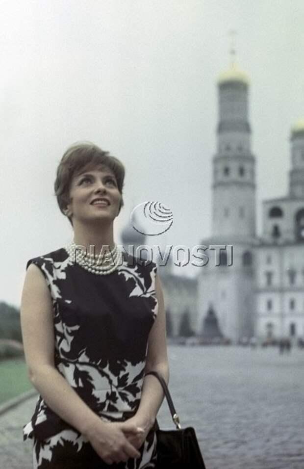 Джина Лоллобриджида в Кремле. 1961 год.