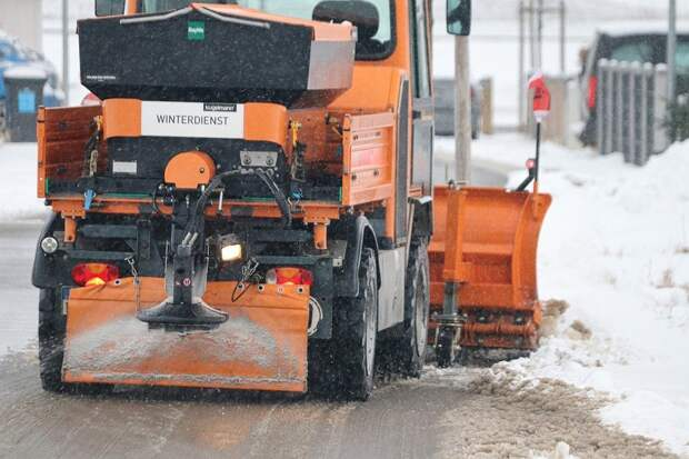 Снегоочиститель, Снег, Дороги, Зима, Трактор