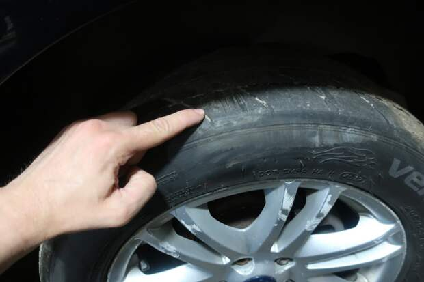 предельный износ шины