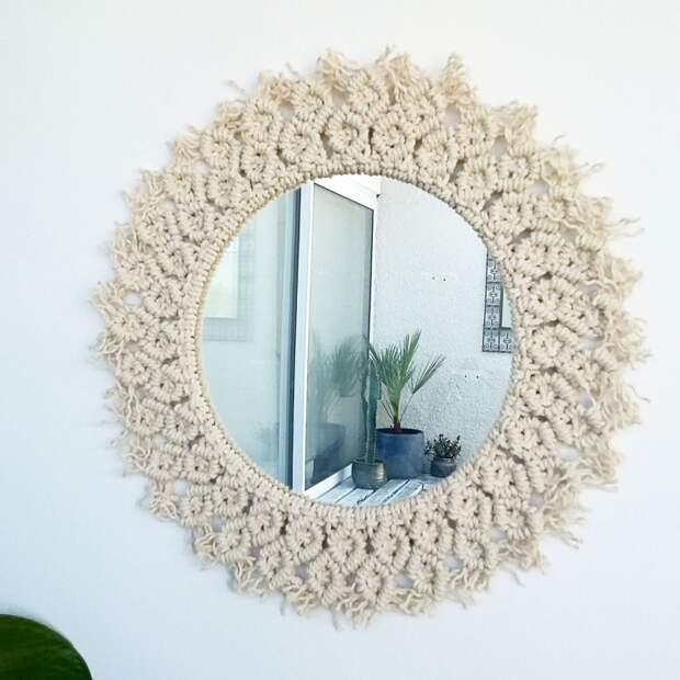 Зеркала макраме (подборка)
