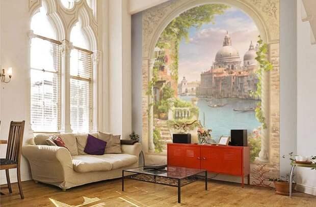 Cтиль и украшение интерьера. Фотообои в современном дизайне