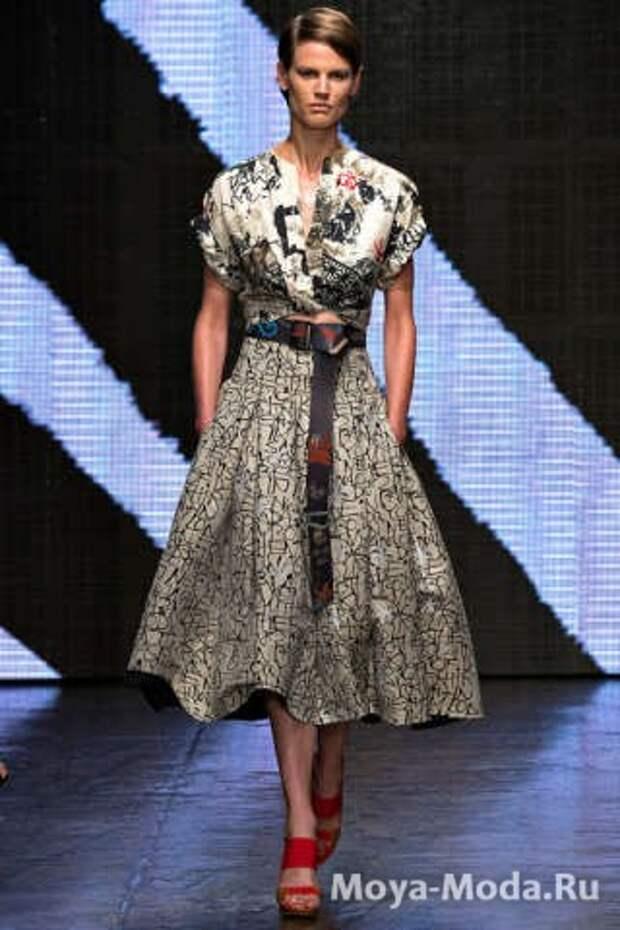 Модная юбка весна-лето 2015 Donna Karan