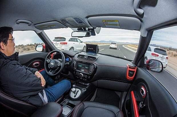 Kia Soul EV Autonomous Vehicle_Traffic Jam Assist