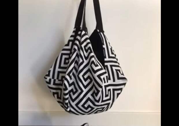 Мастер-класс как сшить необычную круглую летнюю сумку