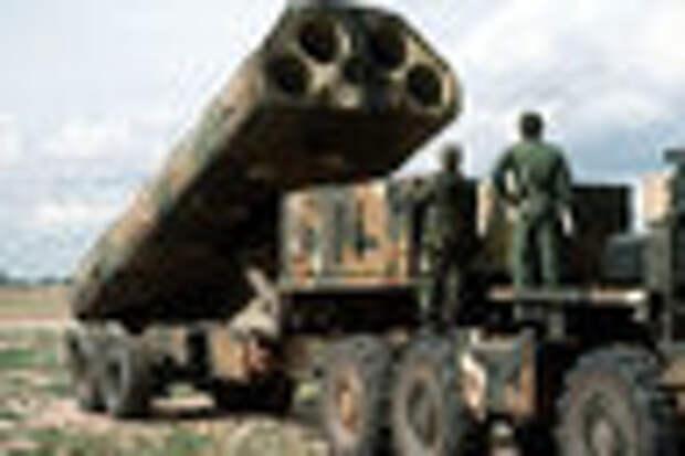 Пусковая установка крылатых ракет BGM-109G (GLCM), ноябрь 1983 года.