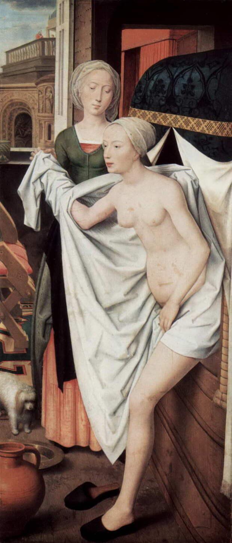 Ханс Мемлинг. «Купание Вирсавии». Около 1480 г