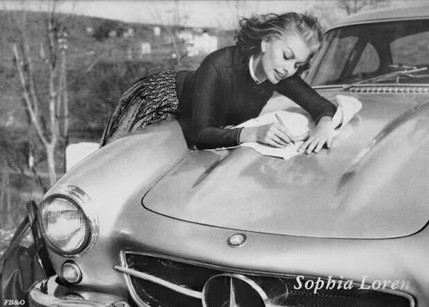 Роскошная Софи Лорен и ее Mercedes-Benz