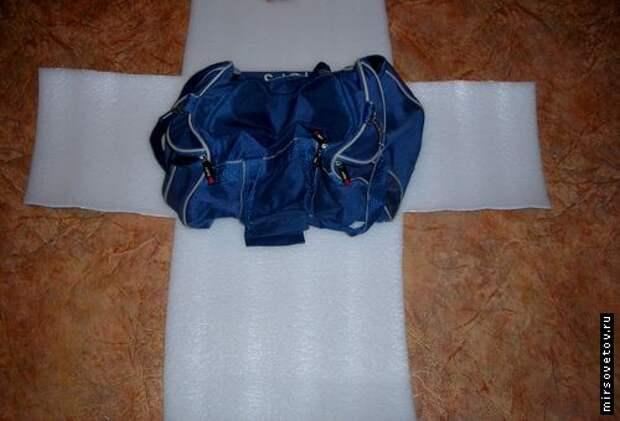 Из утеплителя выкроили «крестик»