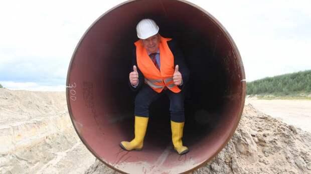 Немецкая «труба» ждет появления «Северного потока-2» из Балтийского моря