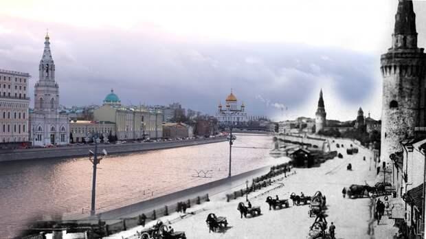 Предновогодняя Москва сквозь годы