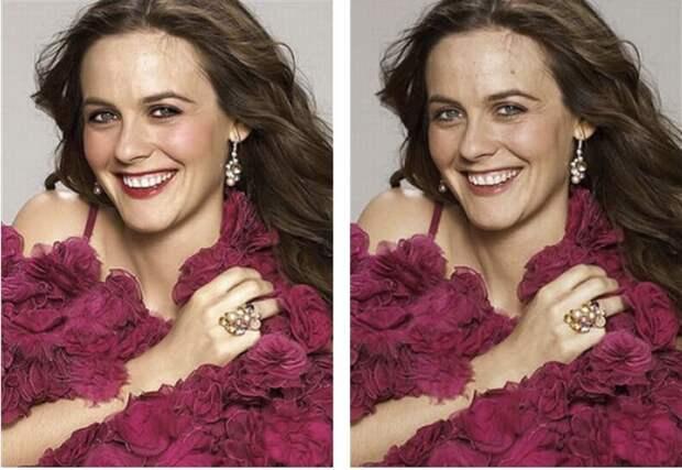 6 фото обложек журналов до и после фотошопа. Найдите 10 отличий