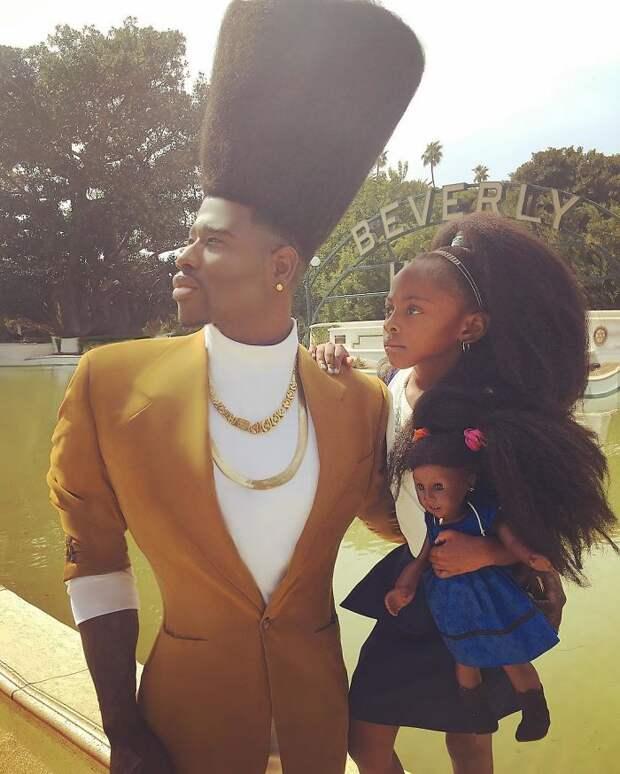 Стильные отец и дочь
