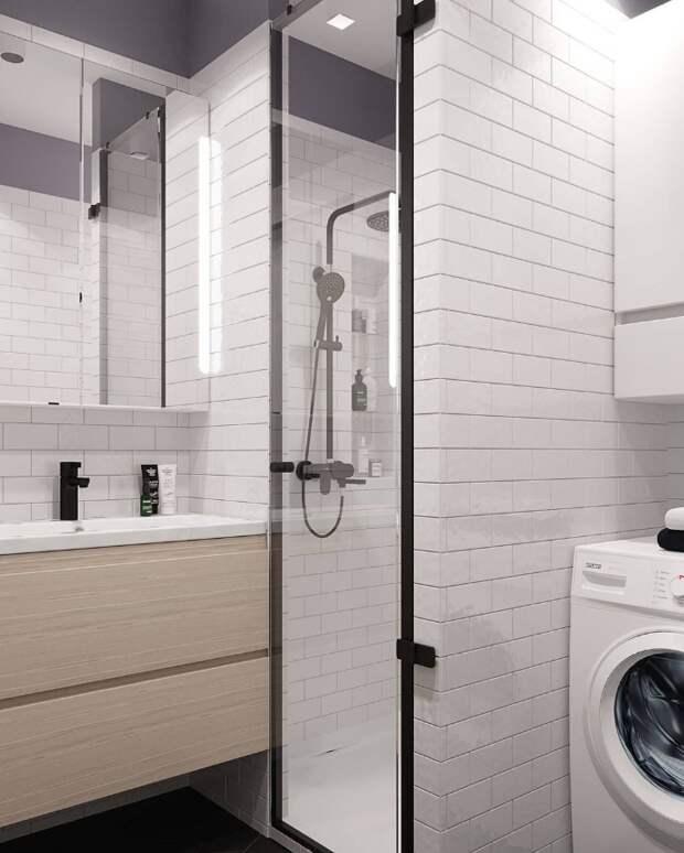 Объясняю, как визуально можно увеличить ванную комнату, при помощи грамотно подобранной плитки