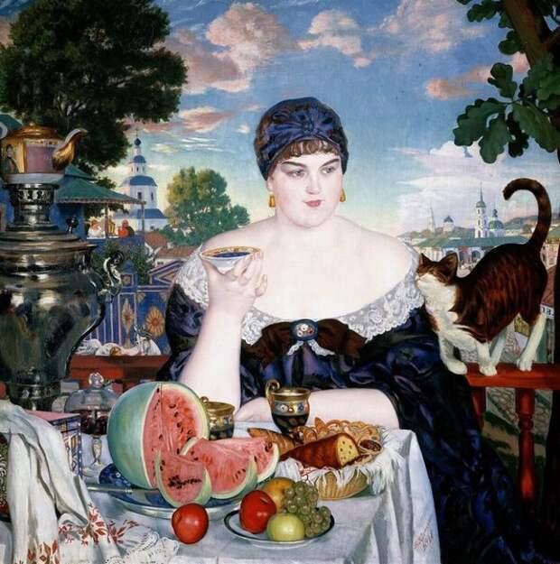 Английское и русское чаепитие в живописи