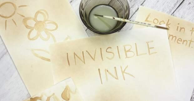 Как сделать невидимые чернила своими руками?