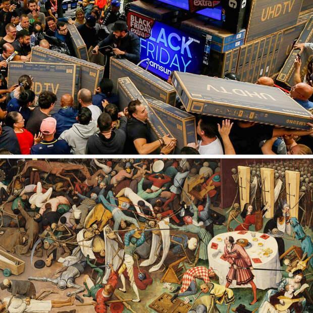 Случайные фото, похожие на шедевры мастеров Возрождения