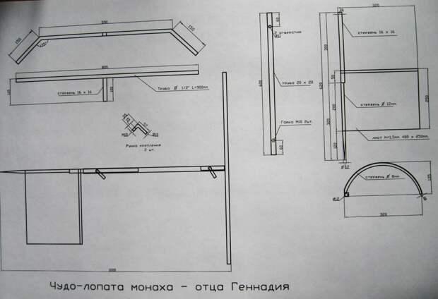 Чудо-лопата монаха - отца Геннадия чертежи