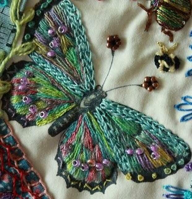 вышивка бабочка