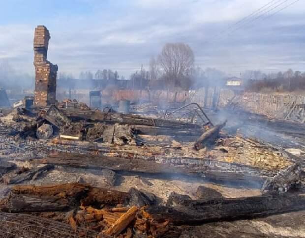 12 дачных домиков сгорели в Нижегородской области
