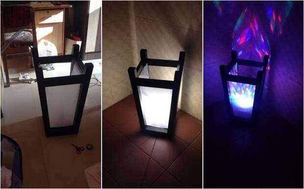 Лампа из табурета (Diy)