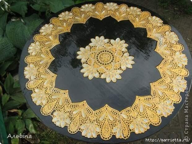 Декорирование круглого столика виниловыми салфетками (7) (520x390, 182Kb)
