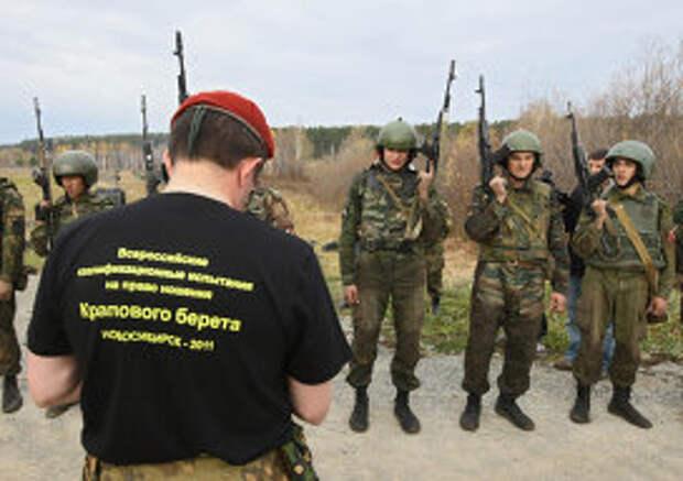 Испытания бойцов спецназа на право ношения крапового берета в Новосибирске