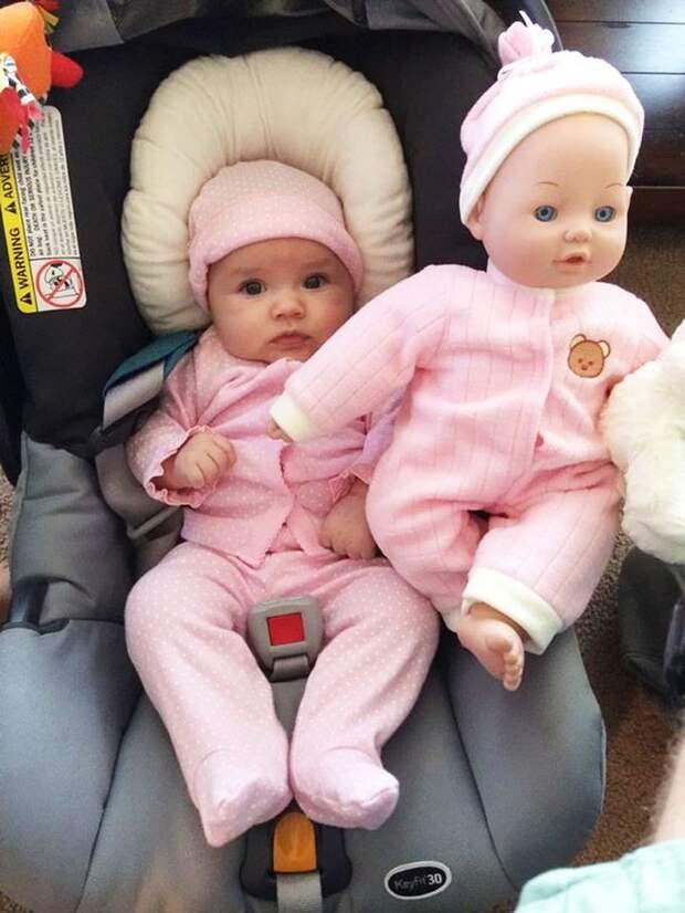 Куклы и дети: кто на кого похож? дети, кукла