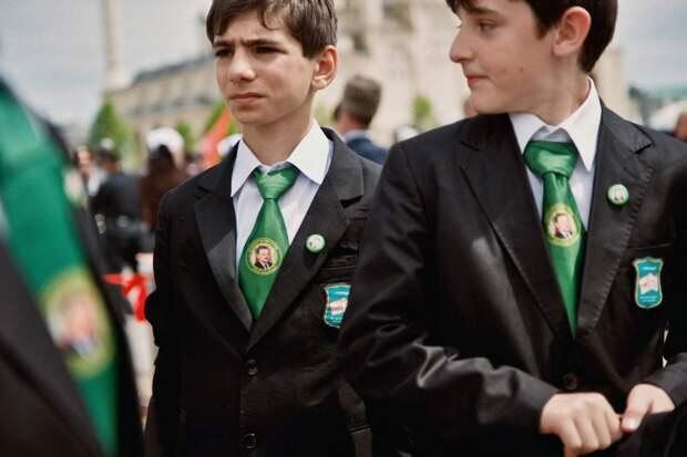 Чеченские школьники