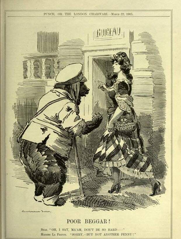 1905 Англия медведь, россия