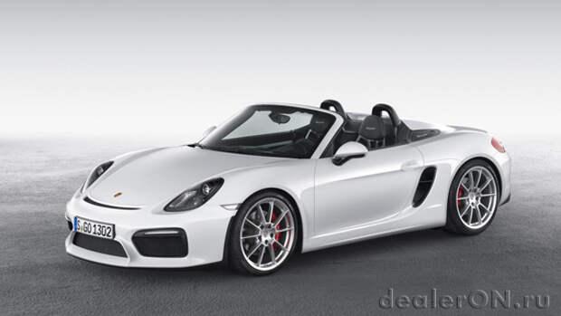 Porsche Boxster Spyder 2016 дебютировал перед Нью Йоркским автосалоном