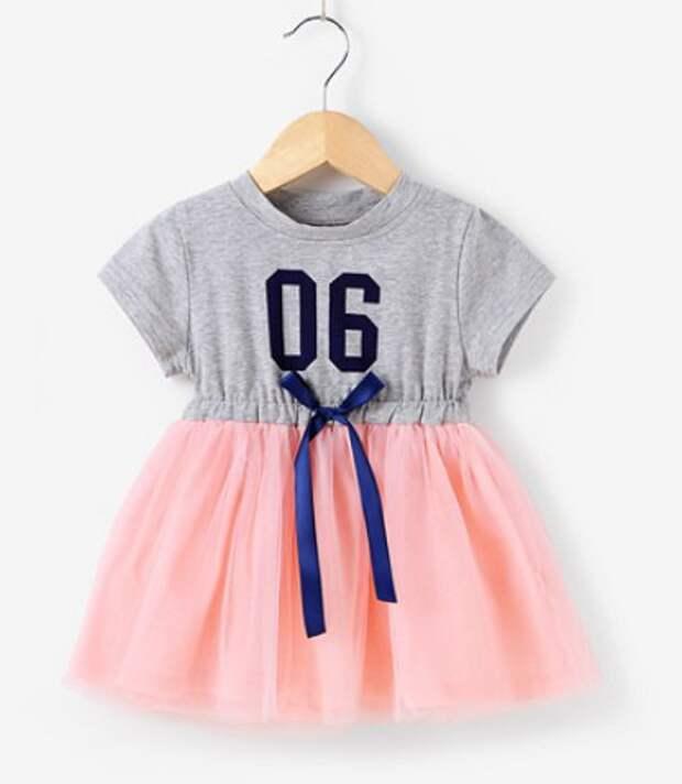 платье дочке из футболки