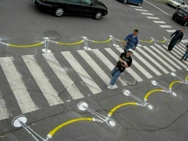 Самые нестандартные пешеходные переходы в мире, которые больше напоминают произведения искусства