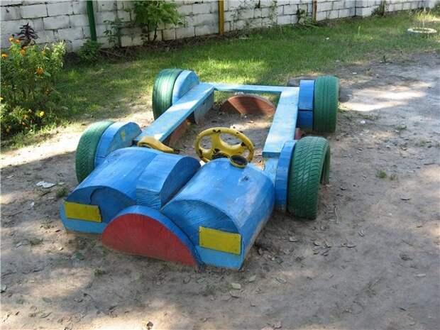 Песочница в виде машинки