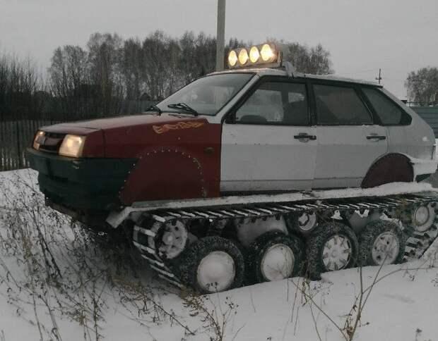 """Механик из Омска соорудил вездеход из старой """"девятки"""" 2109, ваз, вездеход, самоделка"""