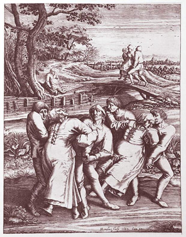 Гравюра танцевальная лихорадка