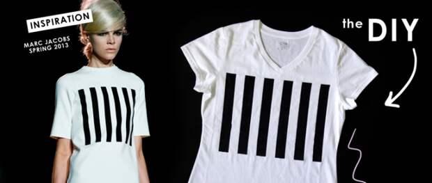 Повторяем футболку с полосками от MARC JACOBS (DIY)
