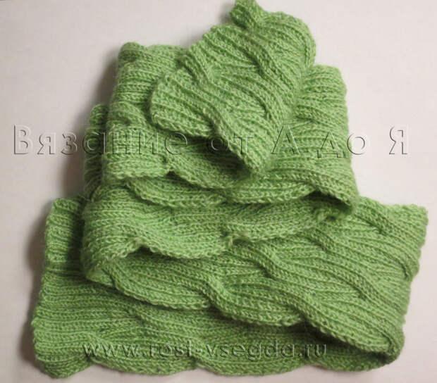 Двухсторонний шарф для дочки