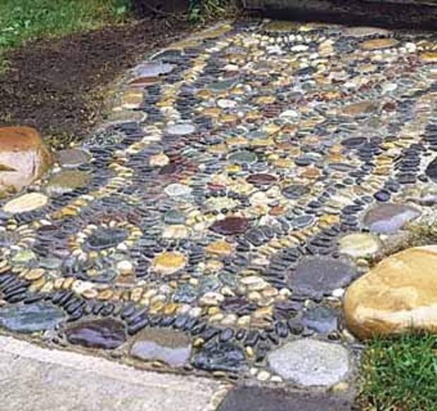 Мастер-класс как сделать садовую дорожку с мозаикой из гальки