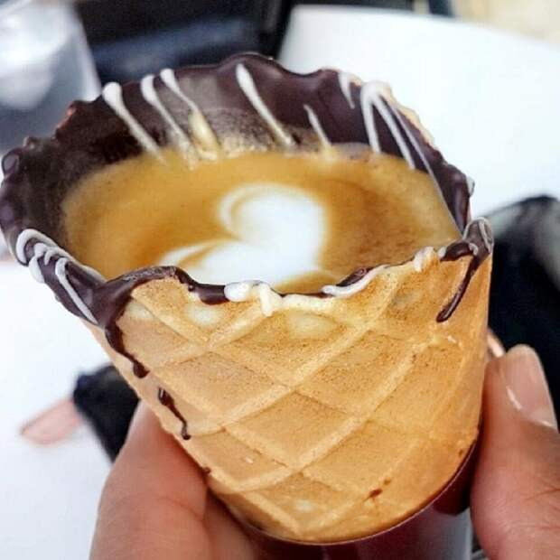 Кофе в рожках — последний кофейный тренд на Instagram