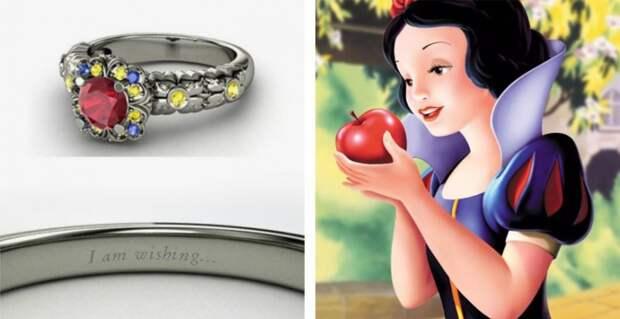 Коллекция колец, вдохновлённых диснеевскими принцессами