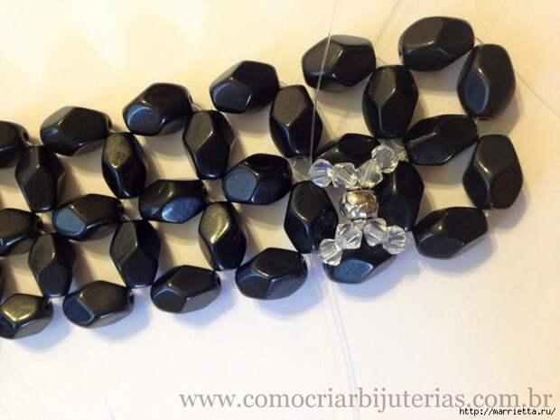 стильное ожерелье из бисера и кристаллов. мастер-класс (15) (700x525, 236Kb)
