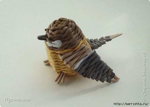 Плетение из газетных трубочек. Птичка СИНИЧКА (25) (520x371, 73Kb)