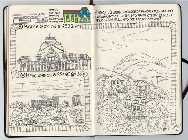 Красноярск - Канск. путешествие, рисунки